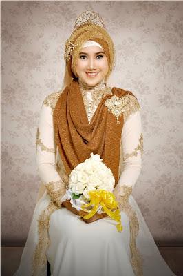 Gaun Pengantin Muslimah Minimalis