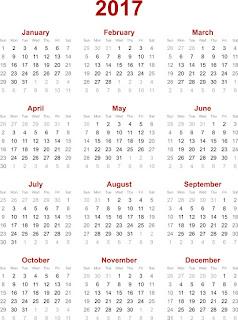 2017カレンダー無料テンプレート30