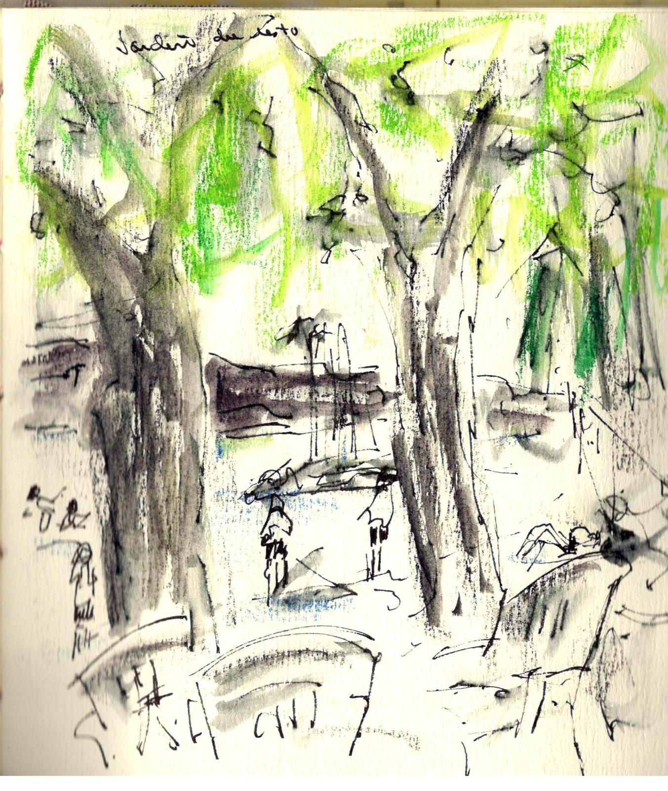 Rochelle mayer artiste en arts visuels - Restaurant cote jardin lac 2 ...