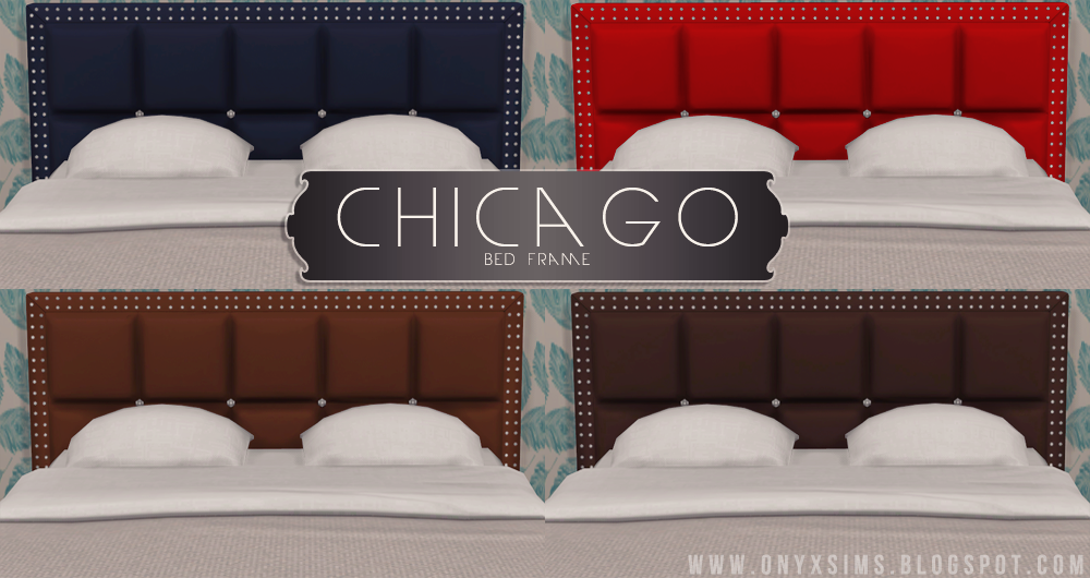 My Sims 4 Blog Chicago Bed Frame by KiaraRawks