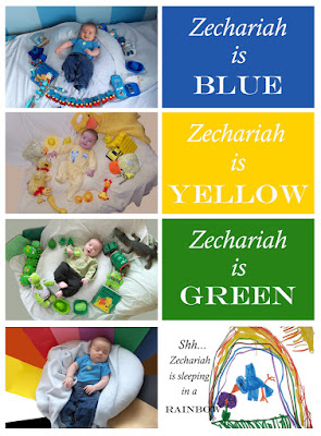 Teach your baby colors by making a book of colors with photos of them