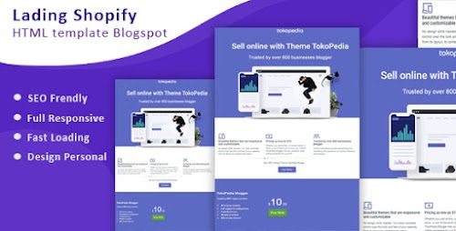 Shopify - Free Landing Page Blogger