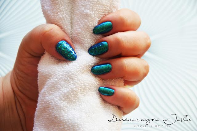 zdobienia nails paznokcie dziewczyna z jasła
