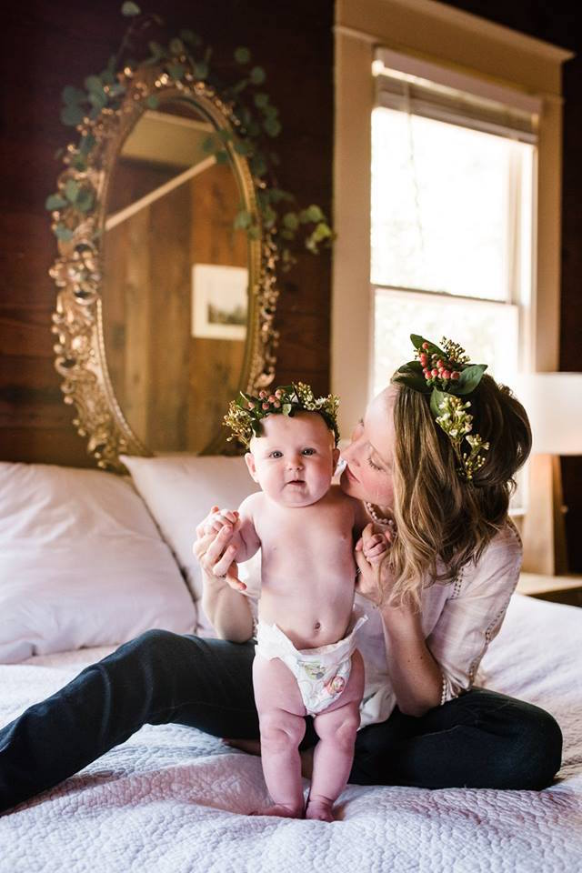 Mommy and Me photos, baby photography, 6 month photos, austin photographer, newborn photography, laura morsman photography, flower crowns, baby flower crown