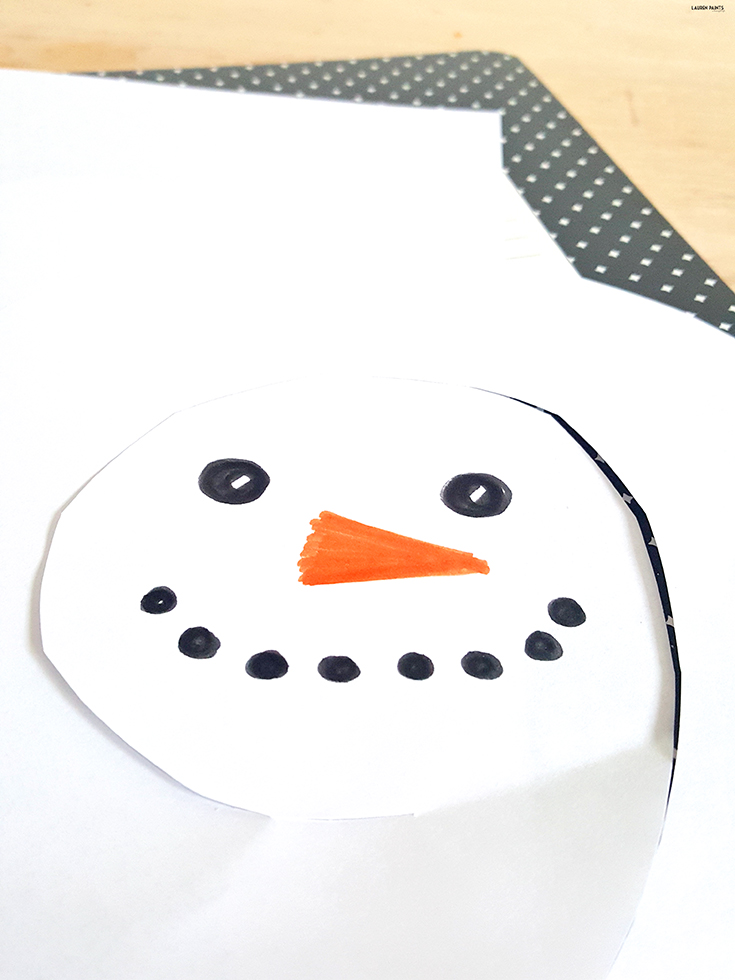 This little snowman is SO easy to build and the perfect indoor project if you are trying to avoid the cold... or reminiscing of cool weather memories.
