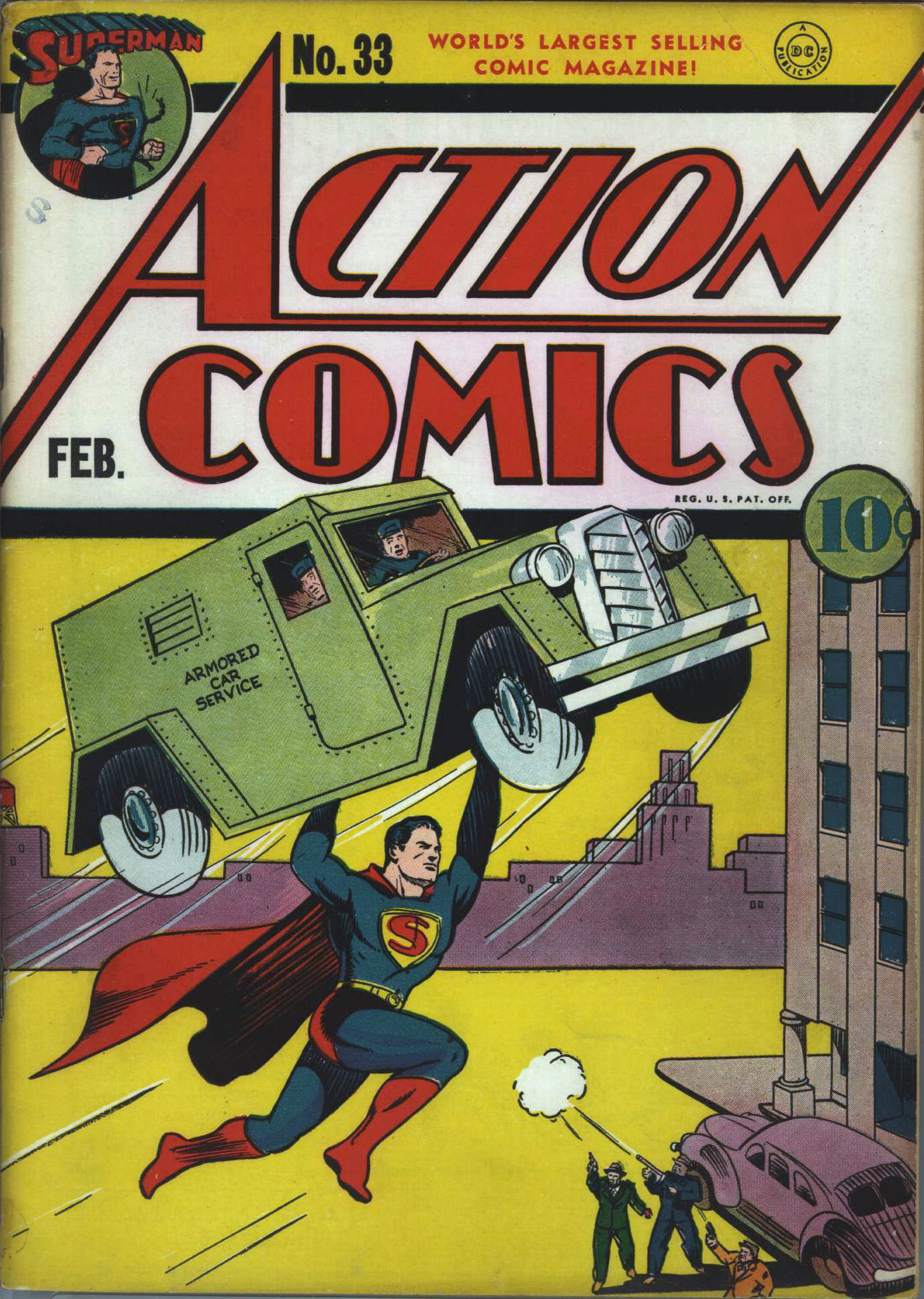 Read online Action Comics (1938) comic -  Issue #33 - 2