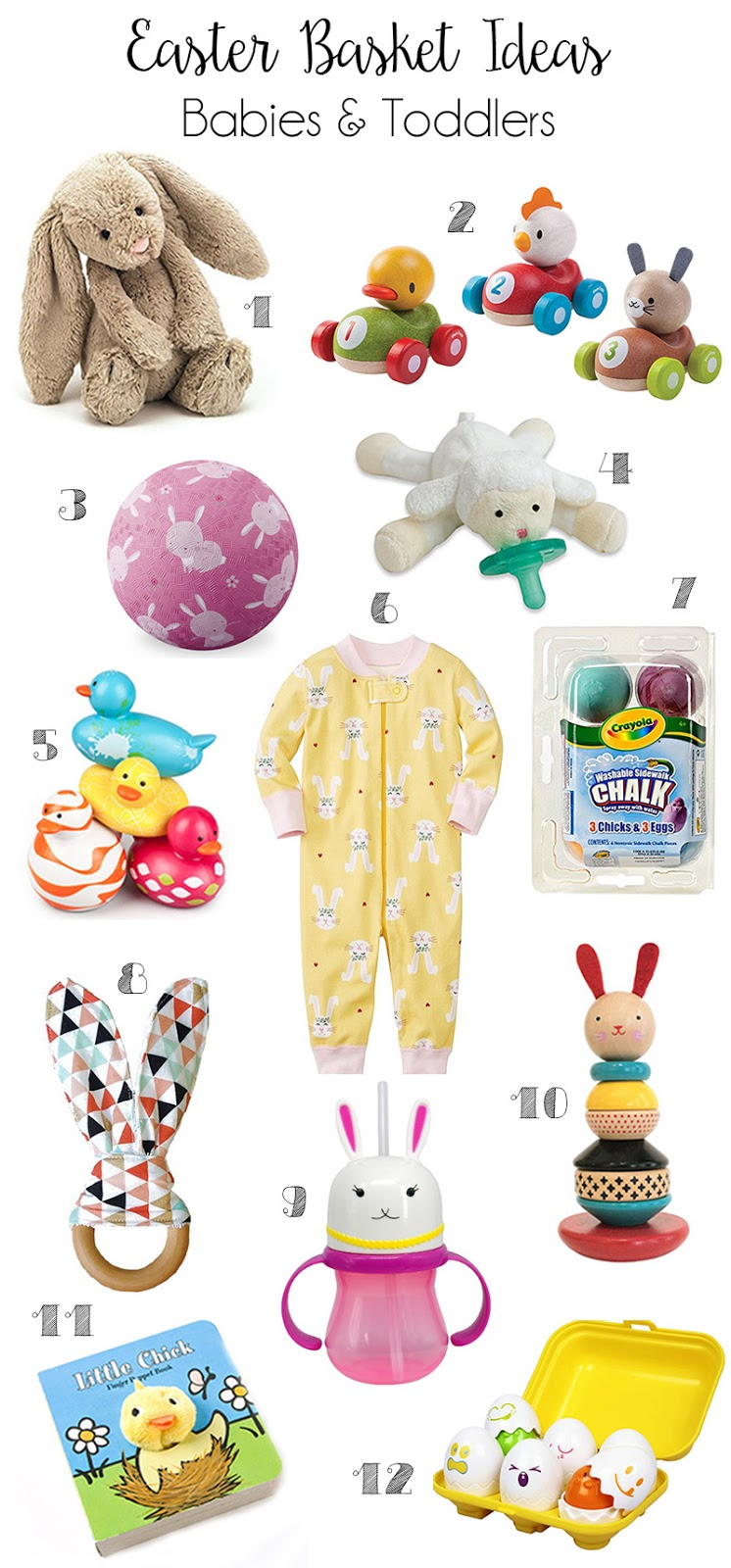 Team shep blog easter basket ideas babies toddlers although there is a lot of crossover between the gifts for these ages first up easter basket ideas for the littlest ones negle Images