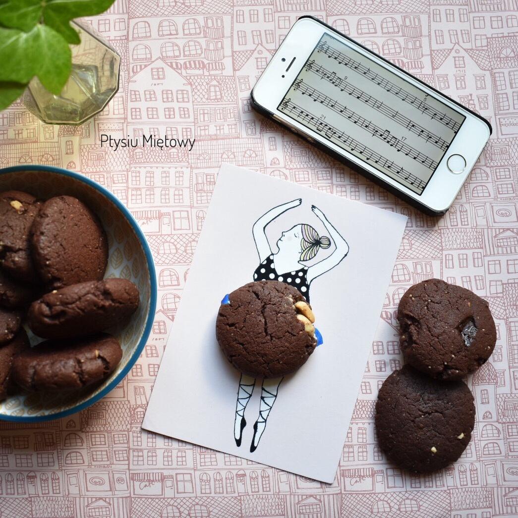 ciasteczka, czekolada, ptysiu mietowy