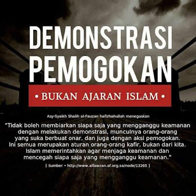 demonstrasi bukan ajaran islam