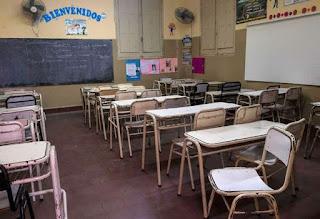 Escuelas públicas vacías, una constante de este ciclo lectivo.  2 de 2