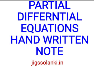 PARTIAL DIFFERENTIAL EQUATIONS HAND WRITTEN NOTE BY PI AIM INSTITUTE
