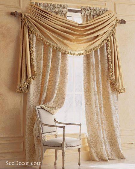 المجموعه الخامسه من احدث وارقى تصميمات الستائر لجميع الاذواق Curtains 2014