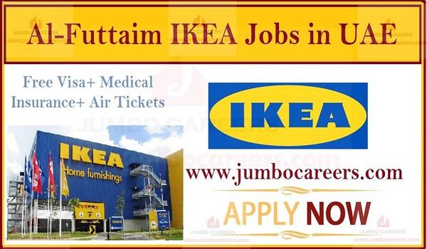 Al-Futtaim IKEA Dubai UAE Latest Job Vacancies 2019 with Free Visa