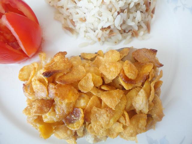 Tavuklu tarifler, Kolay tarifler, Fırın yemekleri, cornflakesli tavuk, glutensiz tarifler