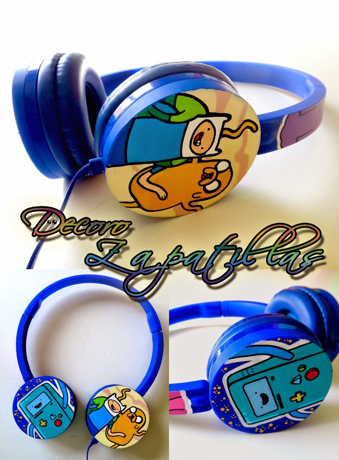 Adventure Time custom headphones handmade