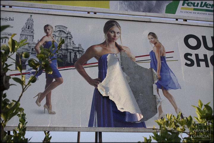 fotografía, cartel, publicidad, roto, Límites, serie, arte, Murcia