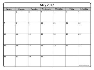 Free Printable Calendar May 2017