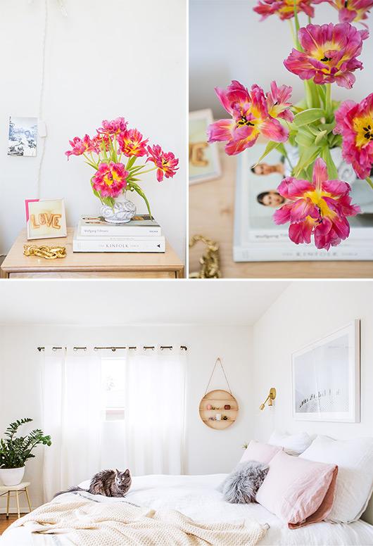 Antes y después de una habitación en tonos neutros