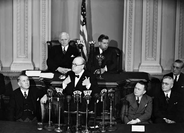 Winston Churchill addressing Congress, 26 December 1941 worldwartwo.filminspector.com
