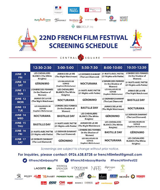 22nd French Film Festival - Bonifacio High Street