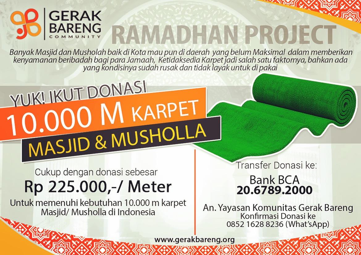 10.000 Meter Karpet Untuk Masjid & Musholla
