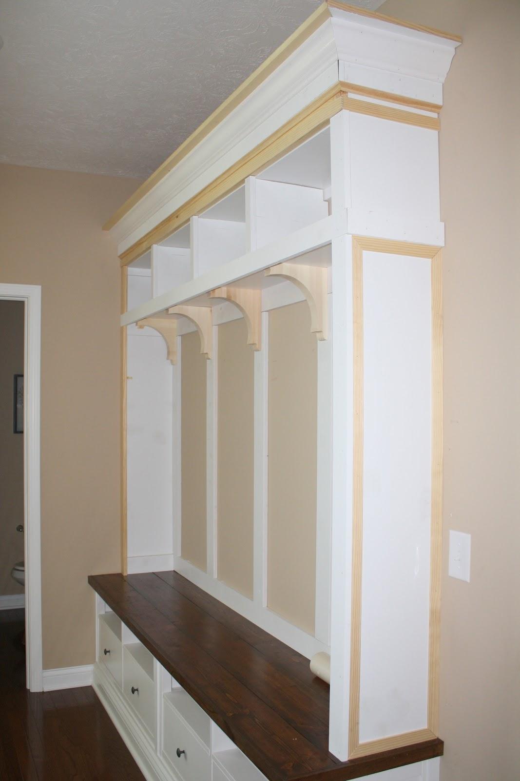 making mudroom storage from an ikea hack. Black Bedroom Furniture Sets. Home Design Ideas