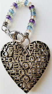 Heart & Love Purse Charm, Charm for your purse, shoulder bag charm, backpack charm, ornament