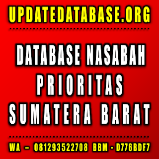 Jual Database Nasabah Sumatera Barat