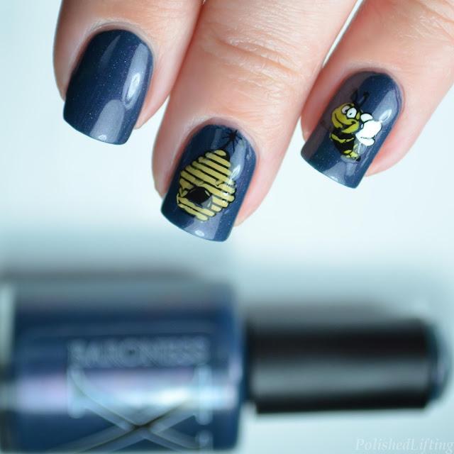 honeybee nail art