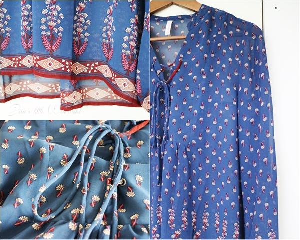 Shoppingausbeute Februar - www.josieslittlewonderland.de - fashion, new yorker shoppingausbeute, haul, fashion haul, new yorker haul, blau gemusterte Bluse von new yorker, new yorker haul