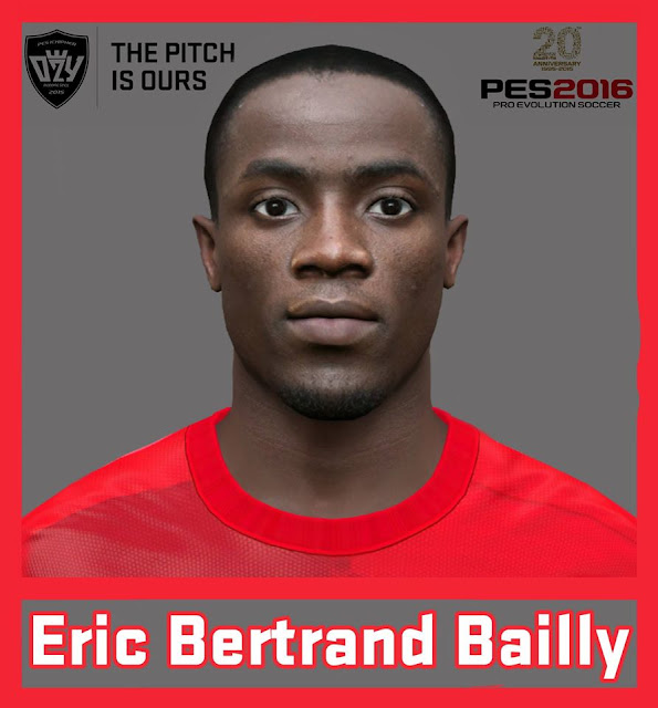PES 2016 / PES 2017 Eric Bertrand Bailly Face by Ozy_96 PESMOD