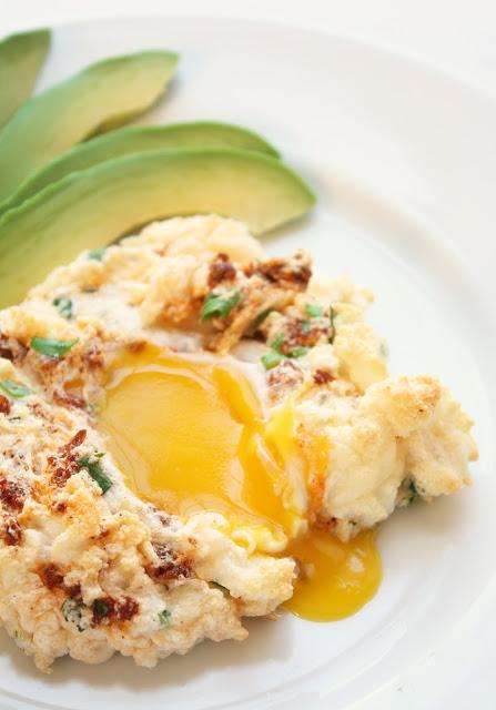 Eggs In A Cloud W Chorizo Cilantro Amp Manchego I