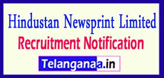 HNL Hindustan Newsprint Limited Recruitment Notification 2017 Last Date 10-05-2017