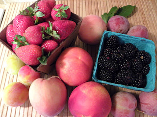 Peaches, Nectarines, Strawberries, Blackberries, Plums