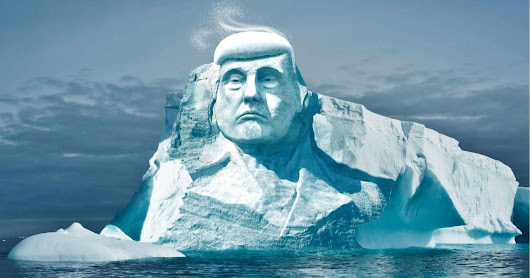 One way to prove climate change to Trump - an melting iceberg in his image