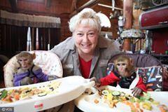 MONKEY MUM: Woman raising six monkeys at her home