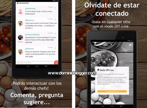 App con recetas faciles y rapidas para Android