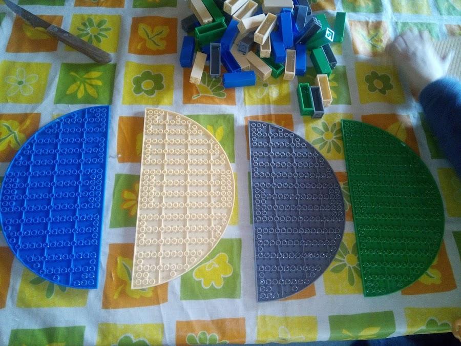 Bases medio circulo lego