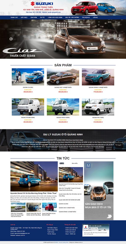 Mẫu themes blogspot bán hàng ô tô 88, xe hơi đẹp, chuẩn seo 2018