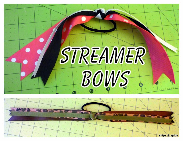 Tutorial for making a streamer bow for hair.