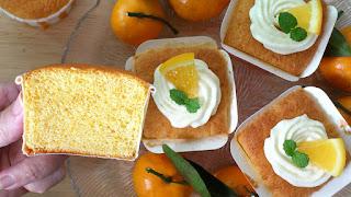 orange sponge cupcakes