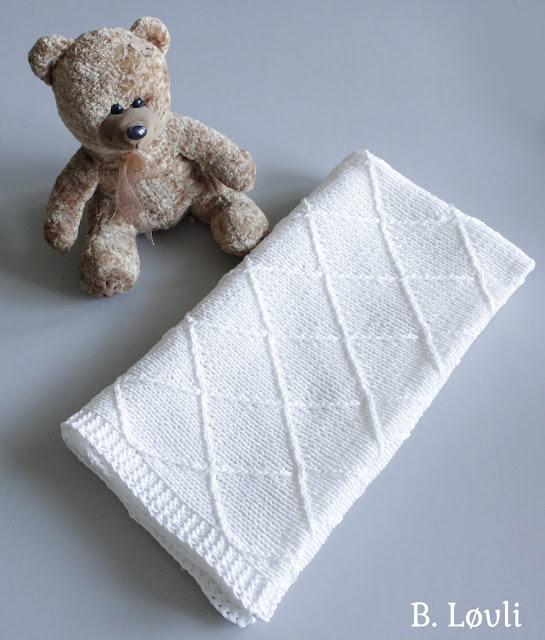 strikkeoppskrift på babyteppe