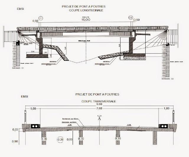 genie civil projet de calcul de tablier de pont. Black Bedroom Furniture Sets. Home Design Ideas