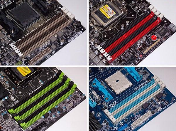 تعرف على سر الالوان الموجودة في أماكن تركيب RAM في لوحات الام لماذا هي مختلفة ،وما دلالتها؟