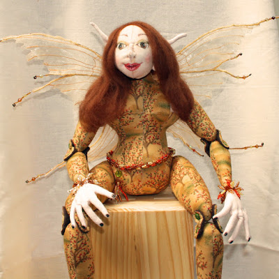Amberindia Autumn Fairy Art Doll.