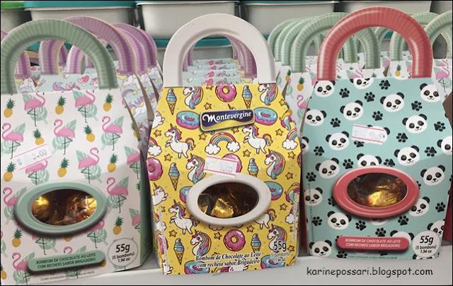 Embalagem de chocolate na decoração de Páscoa
