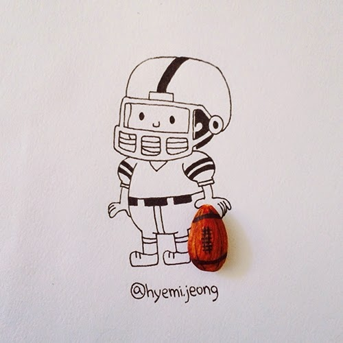 08-Football-Player-Hyemi-Jeong-Everyday-Things-to-Draw-With-www-designstack-co