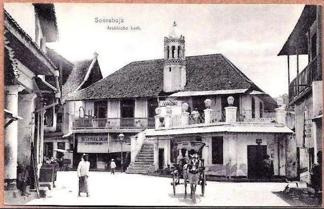 Soerabaja, East Java, Arabische Kerk (Mosque), 1910 Indonesia