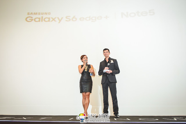 Serena C and Will Quah emceeing the Samsung Note 5 Launch