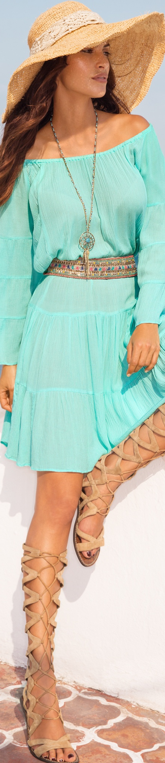 Boston Proper Flare Sleeve Tiered Dress